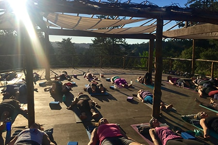 Yoga outdoors for all levels