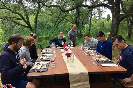 Sonoma Day Reteat with wine tasting & food pairings