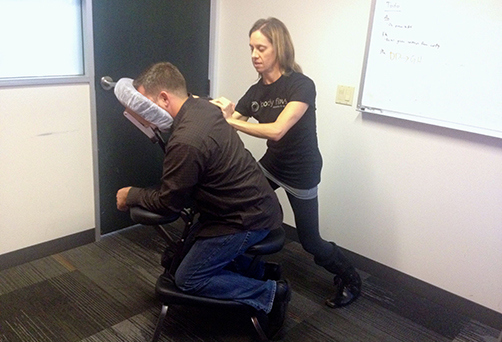 Corporate Chair Massage San Francisco Bay Area.
