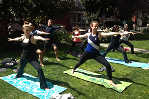 Corporate Yoga San Francisco Bay Area and Sonoma, California by professional leader and teachers