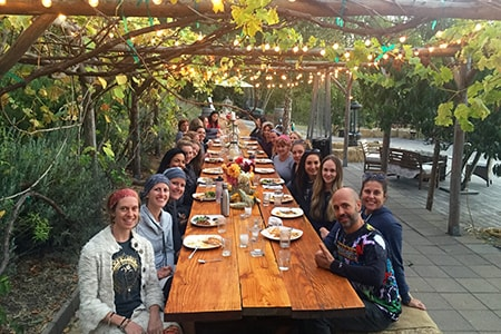 Body Flows yoga retreat outdoor dining